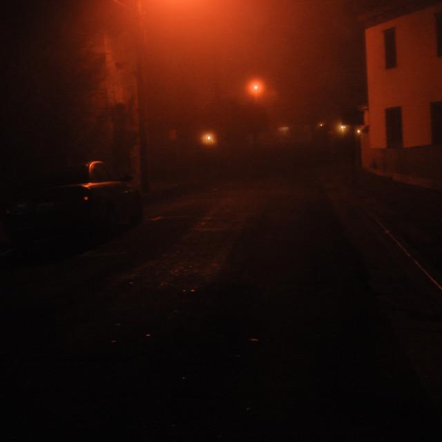 """Monterey Foggy Night"" stock image"