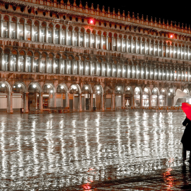 """""""St Mark's Square Reflection"""" stock image"""