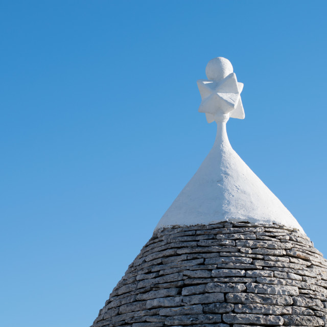 """Trullo stone roof, Alberobello, Italy"" stock image"