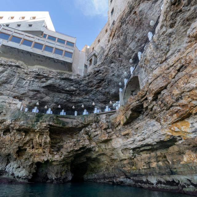 """Grotta Palazzese, Polignano a Mare, Italy"" stock image"
