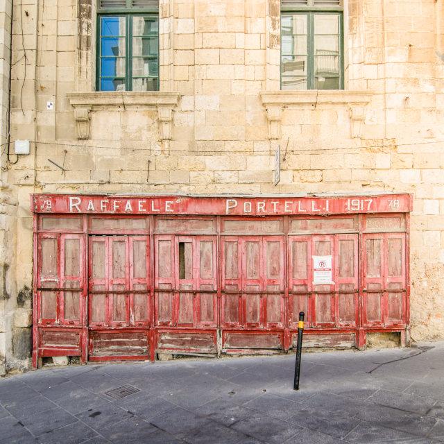 """Shop front in Valletta, Malta"" stock image"