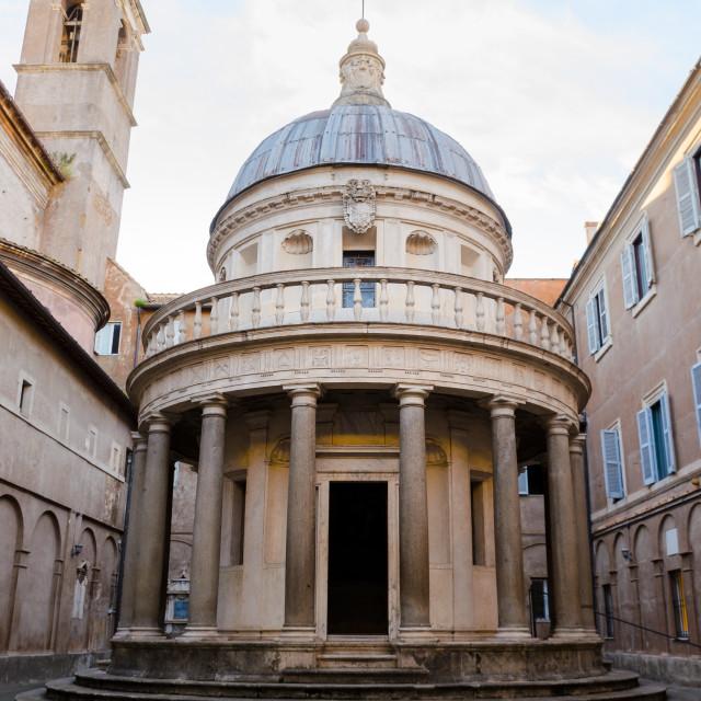 """Tempietto of Bramante, Rome, Italy"" stock image"