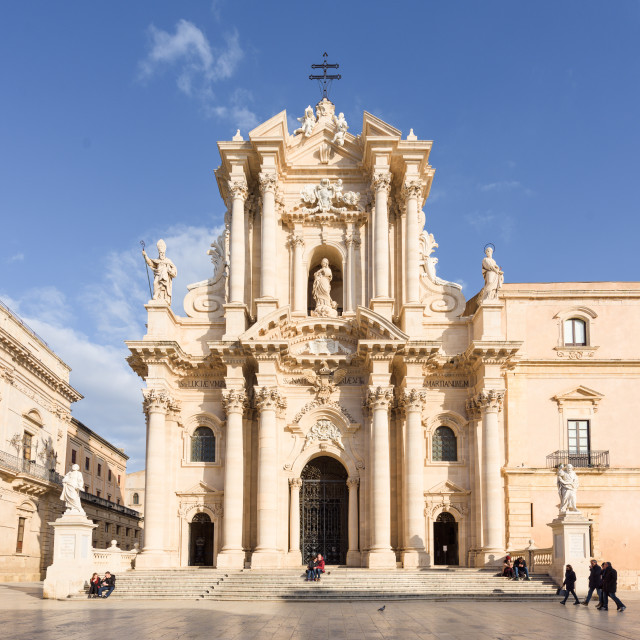 """Cathedral of Syracuse, Sicily, Italy"" stock image"