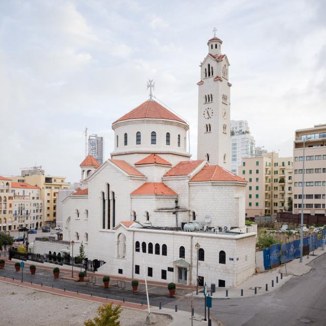 """""""Armenian Catholic cathedral, Beirut"""" stock image"""