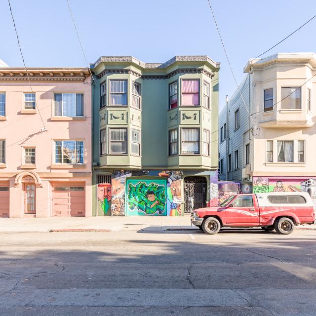 """Liberty Street Historic District, San Francisco, USA"" stock image"