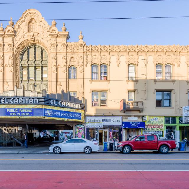 """El Capitan Hotel, San Francisco, California"" stock image"