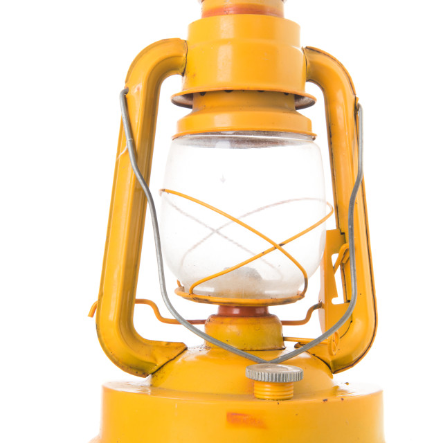 """Used yellow lantern"" stock image"