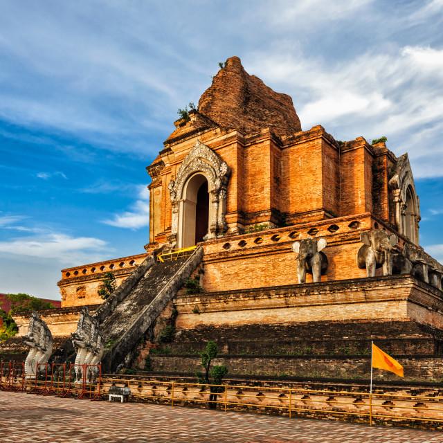 """Wat Chedi Luang. Chiang Mai, Thailand"" stock image"
