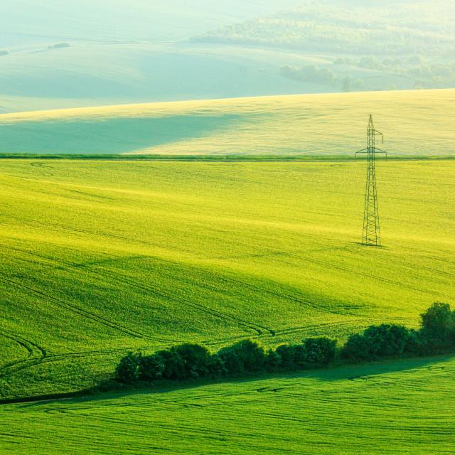 """Moravian summer rolling landcsape"" stock image"