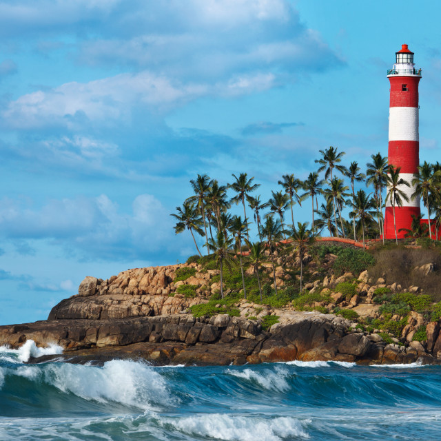 """""""Lighthouse on cliff"""" stock image"""