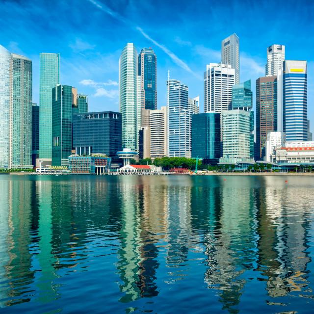 """Modern city skyline"" stock image"