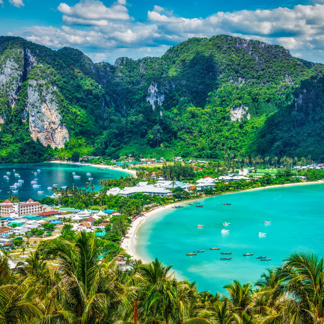"""Green tropical island"" stock image"
