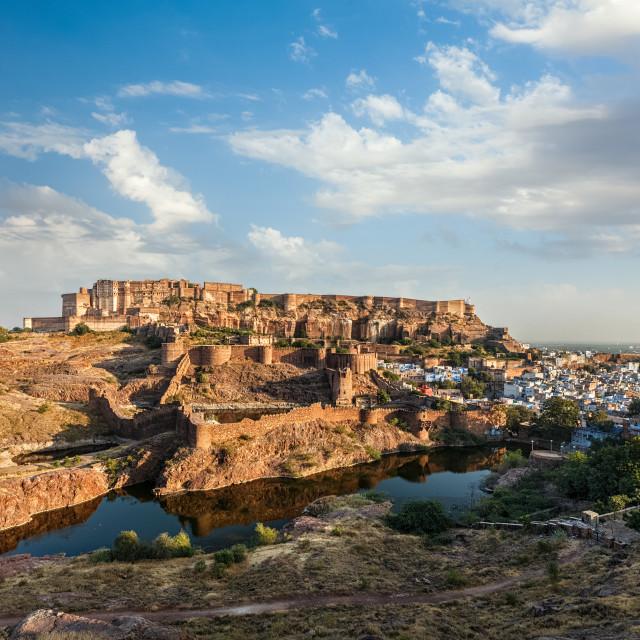 """Mehrangarh Fort, Jodhpur, Rajasthan, India"" stock image"