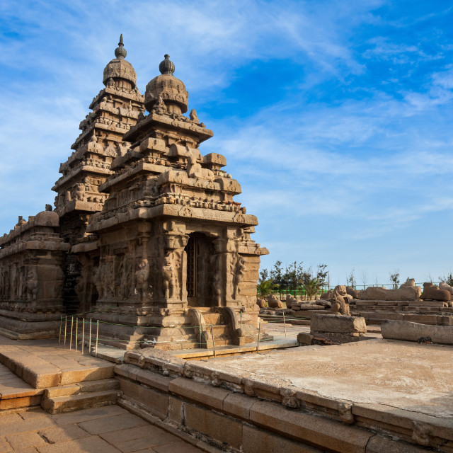 """Shore temple - World heritage site in Mahabalipuram, Tamil Nad"" stock image"