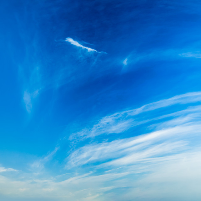 """""""Blue sky with clouds"""" stock image"""