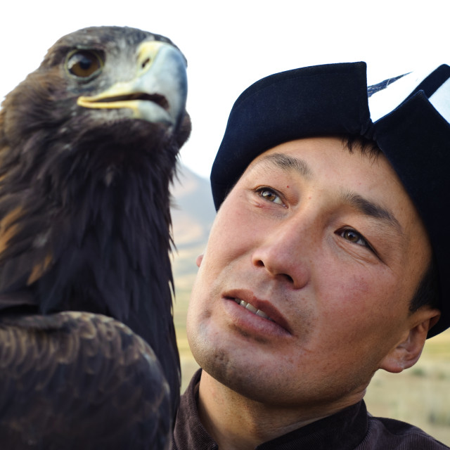 """Eagle hunter ( Kyrgyzstan)"" stock image"