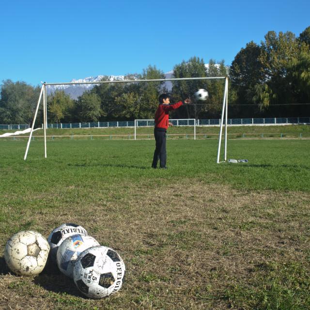 """Football training ( Kyrgyzstan)"" stock image"