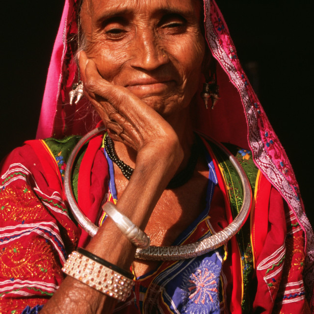 """Rawat woman ( India)"" stock image"