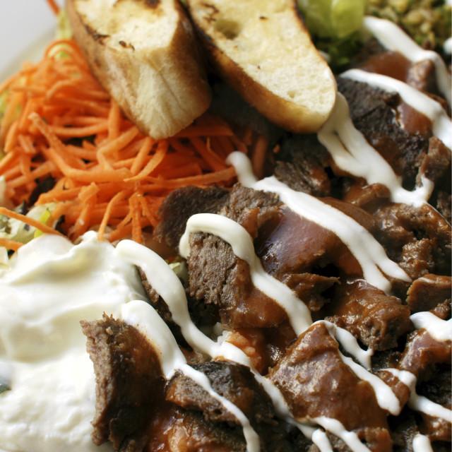 """Iskender kebab a popular Turkish dish"" stock image"