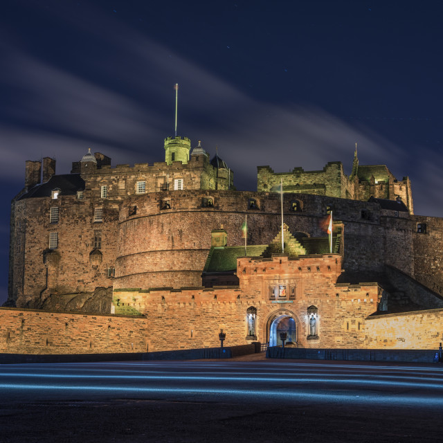 """Edinburgh Castle, Scotland"" stock image"