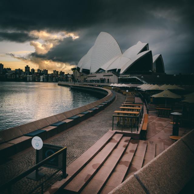 """Opera House (storm)"" stock image"