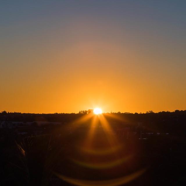 """""""Sydney Sunrise"""" stock image"""