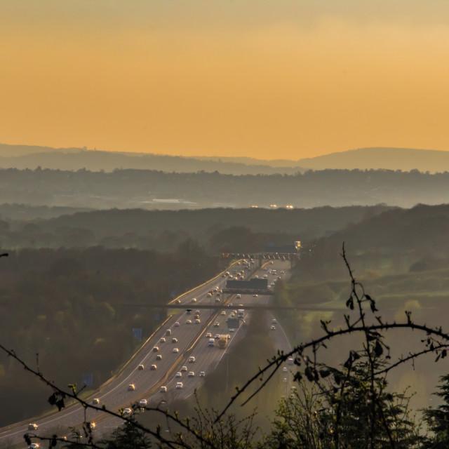 """""""M25 Motorway England"""" stock image"""