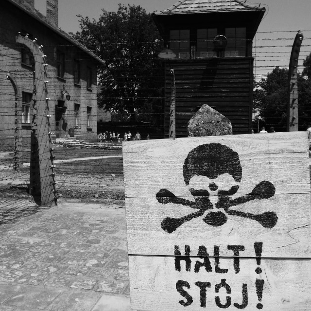 """Auschwitz sign"" stock image"