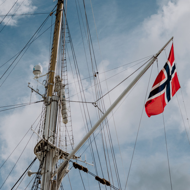 """Norwegian Flag"" stock image"
