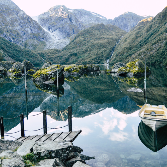 """Norwegian Lake"" stock image"