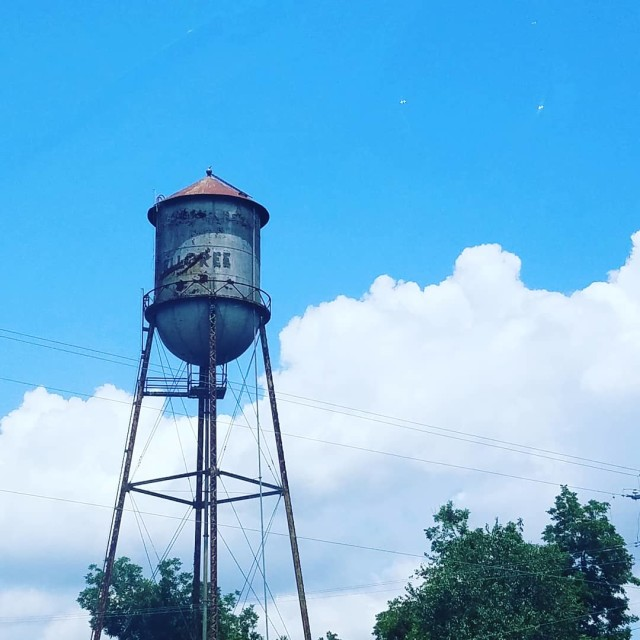 """Water Tower in Elloree"" stock image"