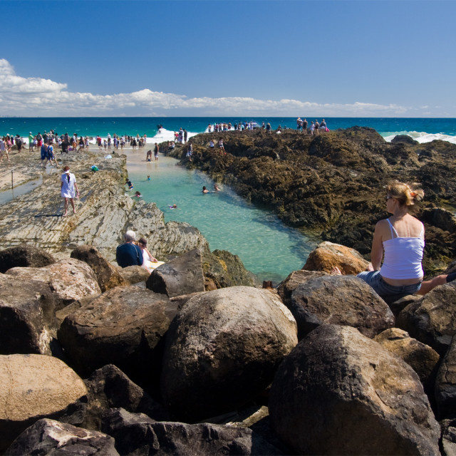 """Snapper Rocks—Qld Australia #2"" stock image"