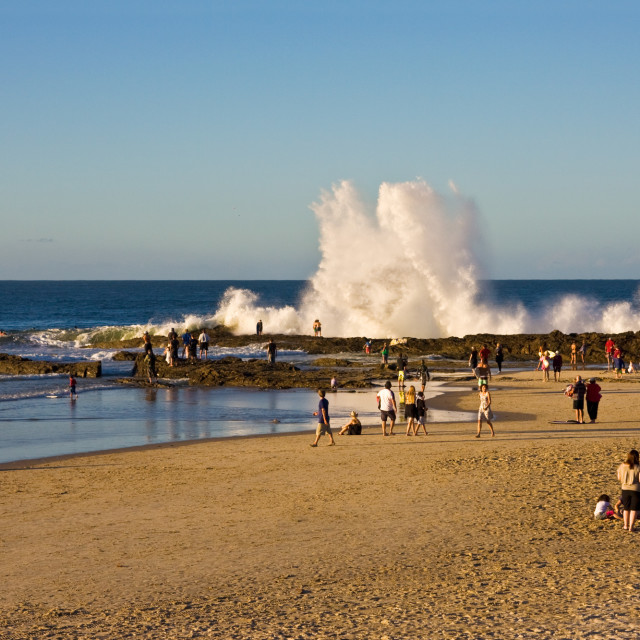 """The big break at Snapper Rocks"" stock image"