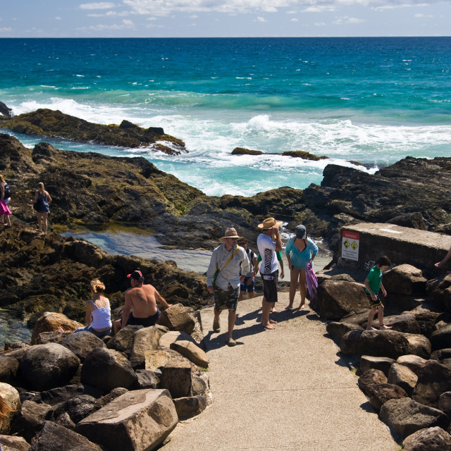 """Snapper Rocks—Qld Australia #1"" stock image"
