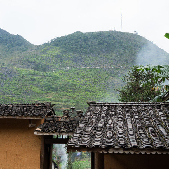 """""""Old house of the ethnic in Ha giang, Vietnam."""" stock image"""