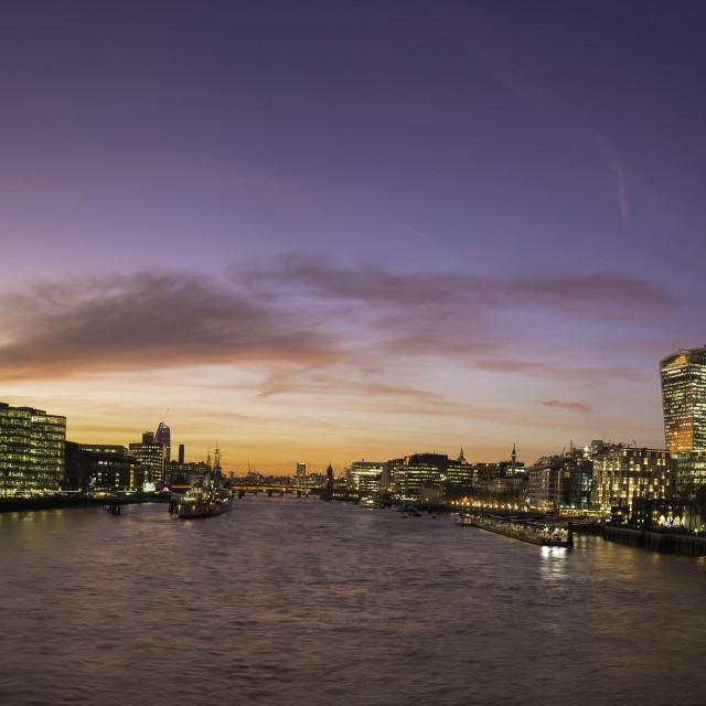 """London Thames sunset"" stock image"