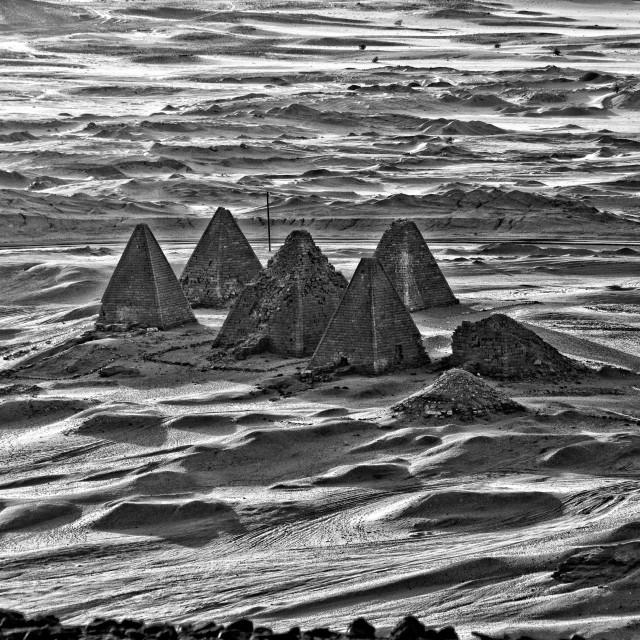 """""""Kush Empire pyramids at Jebel Barkal, Sudan"""" stock image"""