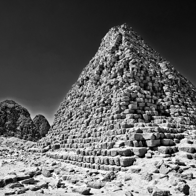 """Kush Empire pyramids at Nuri, Sudan"" stock image"