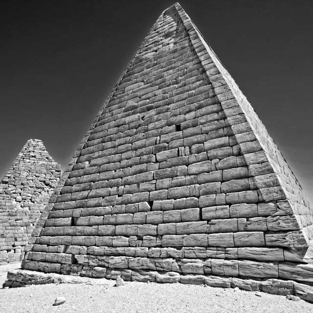 """Kush Empire pyramids at Jebel Barkal, Sudan"" stock image"