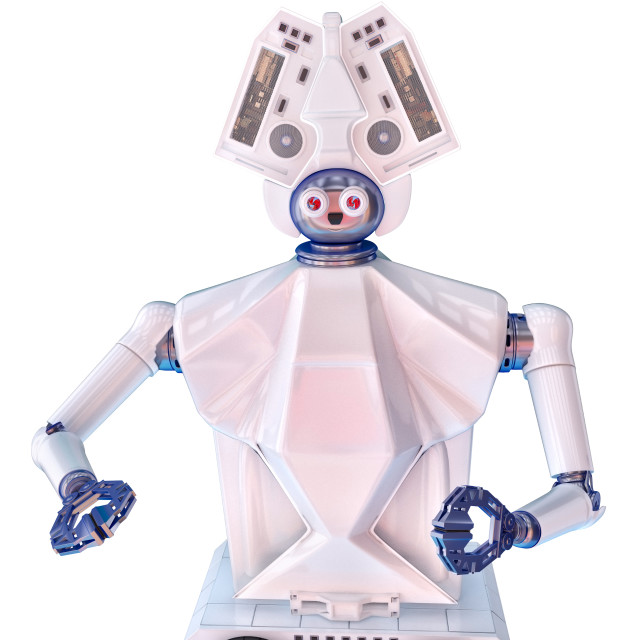"""""""Social robot with head"""" stock image"""