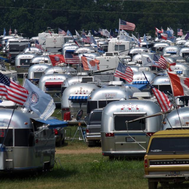 """""""Airstream City Springfield Missouri Rally"""" stock image"""