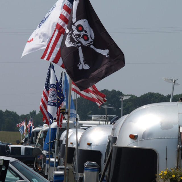 """Flags of Airstream Rally - Pirate Flag"" stock image"