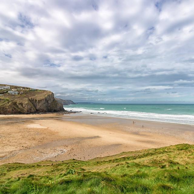 """Porthtowan beach, cornwall"" stock image"