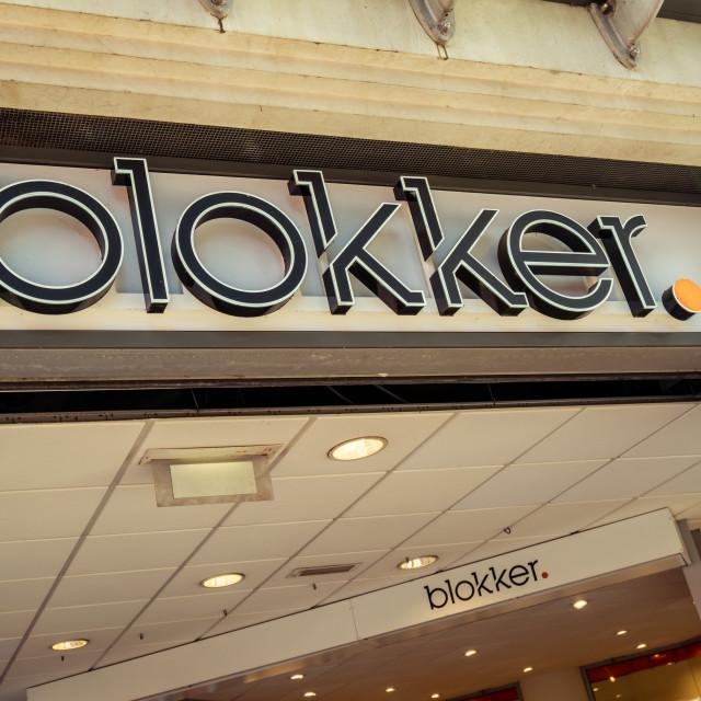 """""""Storefront and Blokker logo"""" stock image"""
