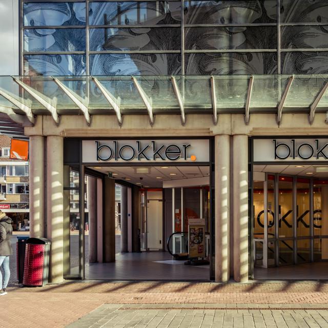 """""""Blokker store in Dordrecht"""" stock image"""