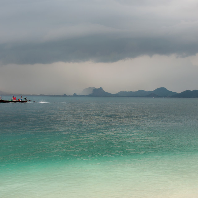 """""""Storm over Ao Nang"""" stock image"""