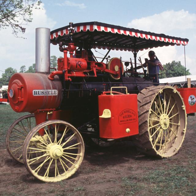 """Vintage Steam Tractor"" stock image"
