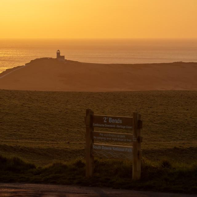 """Belle Tout Sunset 2"" stock image"