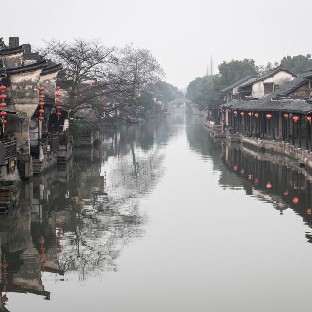 """""""Serene Morning - Xitang, China"""" stock image"""