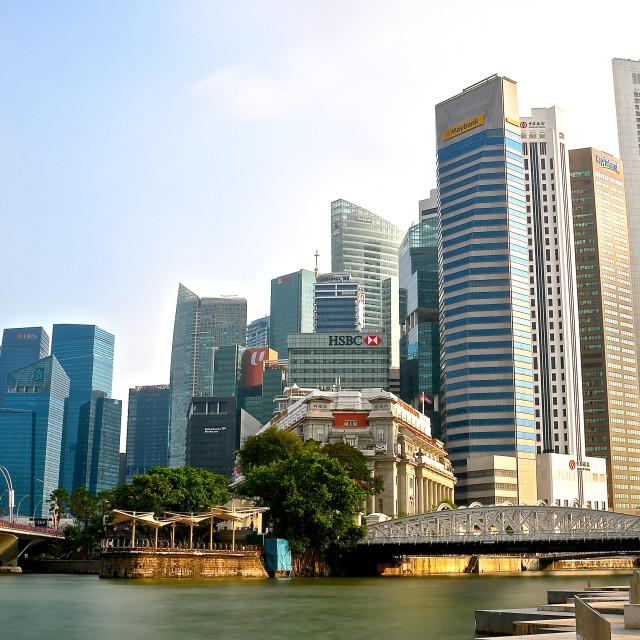 """""""Singapore cityscape."""" stock image"""